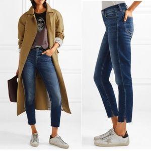 L'AGENCE Nicoline High Rise French Slim Jeans Slit